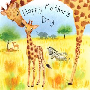 FIZ31 - Mother's Day Card Giraffes